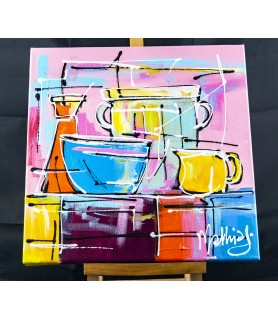Still life Colorful jugs