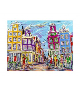 Giclee - Canal of Amsterdam...