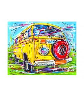 Giclee - Classic car VW bus...