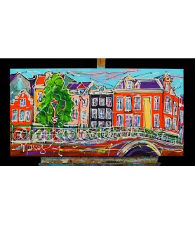 Canal of Amsterdam, houses...