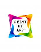 Print of Art on canvas and plexiglass, fridge magnets.